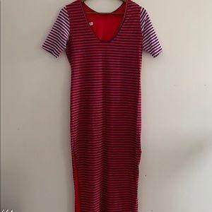ASOS Long Striped Shirt Dress SZ 4